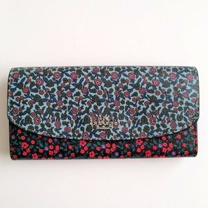 COACH SLIM ENVELOPE WALLET RANCH FLORAL PRINT MIX